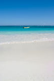 Motorboat on tropical beach Stock Photography