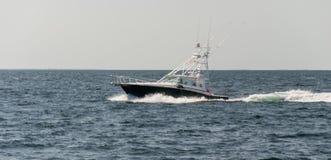 Motorboat w oceanie Fotografia Royalty Free