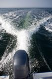 Motorboat wake Stock Images