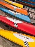 Motorboats da raça alinhados Fotos de Stock