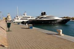 Motorboats In The Marina Of El Gouna Royalty Free Stock Photos
