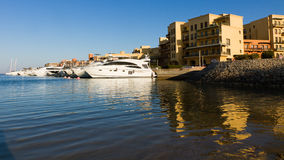 Motorboats in the marina of el gouna Stock Images