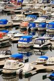 Motorboats na porta Foto de Stock