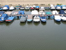Motorboats parking Royalty Free Stock Photography