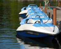 Motorboats for rent Royalty Free Stock Photos