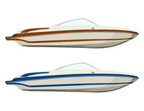 Motorboats set Royalty Free Stock Photo
