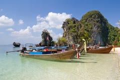 Motorboats tailandeses tradicionais Fotos de Stock
