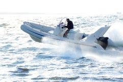 Motorboot 17 stock afbeelding