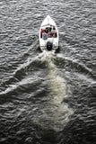 Motorboot auf dem odra Fluss Szczecin, Polen, Sommerzeit Stockbild
