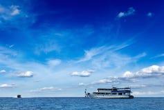 Motorboot in het overzees Royalty-vrije Stock Fotografie