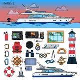 Motorboot im Meer Lizenzfreies Stockfoto