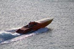 Motorboot in Miami Beach stockfotos