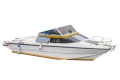 Motorboot op een witte achtergrond wordt geïsoleerd die Stock Afbeeldingen