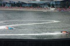 Motorboote F1, die Abbildung acht zeichnen Lizenzfreie Stockfotos