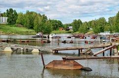 Motorboote und Schiffe Stockfoto