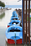 Motorboten aan huur Stock Fotografie