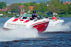 Motorboten in Actie Royalty-vrije Stock Foto's