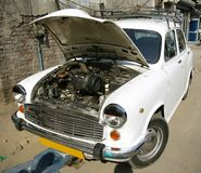 Free Motorcar At Mechanic Workshop, Delhi Stock Photography - 4151922