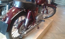 Motorcicle in Warshau Royalty-vrije Stock Afbeeldingen