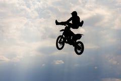 Motorcircle rider silhouette Stock Image