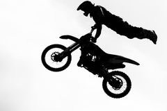 Motorcircle rider silhouette Royalty Free Stock Photos