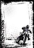 Motorcross background Stock Image
