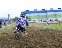 Motorcross in El Berron, Asturias, spain. Royalty Free Stock Image