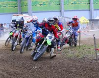 Motorcross in El Berron, Asturias, spain. Royalty Free Stock Photography