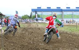 Motorcross in El Berron, Asturias, spain. Royalty Free Stock Photo