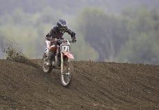 Motorcross Mitfahrer Stockfoto
