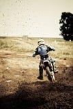 Motorcross Mitfahrer Stockbild