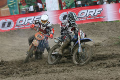 Motorcross. Motocross rider racing on a circuit in Sukoharjo, Central Java, Indonesia Stock Photography