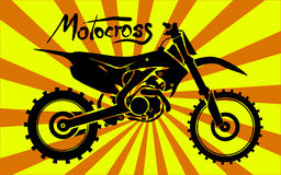 Motorcross motorcycle Royalty Free Stock Photos