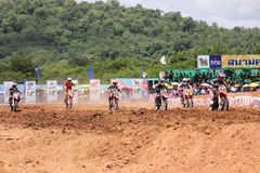 Motorcross racing2 Stock Image