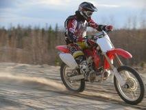 Motorcross-Rennen. Stockfoto