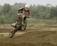 Motorcross rider Royalty Free Stock Photos