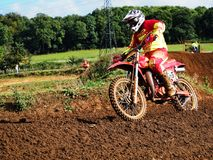 Motorcross Bike and Rider Royalty Free Stock Images