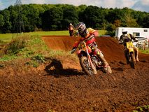 Motorcross Bike and Rider 2 Stock Photos