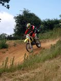 Motorcross. Rider at leicester Stock Photos