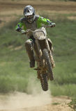 Motorcross Sprung Lizenzfreie Stockbilder