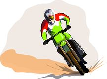 Motorcucle off road Royalty Free Stock Photography