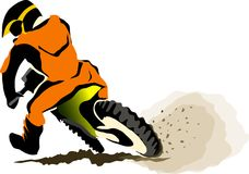 Motorcucle off road Stock Image