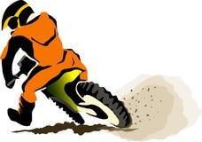 Motorcucle van weg Stock Afbeelding