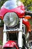 Motorcyc;e Front. Front View of Red Motorcycle Stock Photography