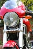 Motorcyc; parte dianteira de e Fotografia de Stock