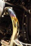 Motorcycl avgasrör Arkivbild