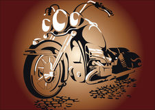 Motorcycl på vägen Arkivfoto