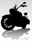 Motorcycl on road Royalty Free Stock Images
