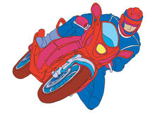 Motorcycle. Male athlete on a motorcycle Royalty Free Stock Photos