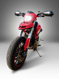 Motorcycle. Red race motorcycle with lights Stock Images